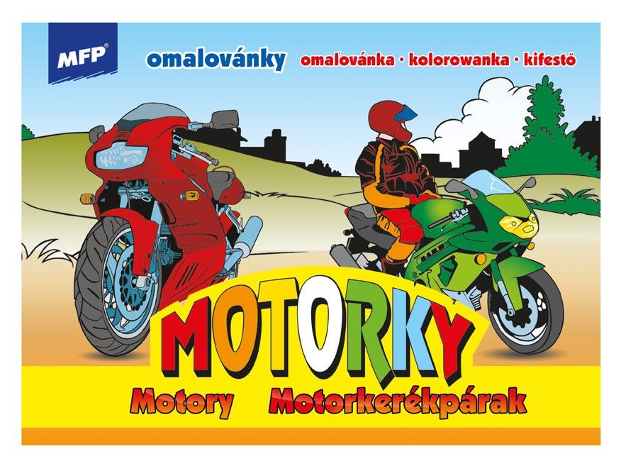 MFP 5300268 omalovánky Motorky