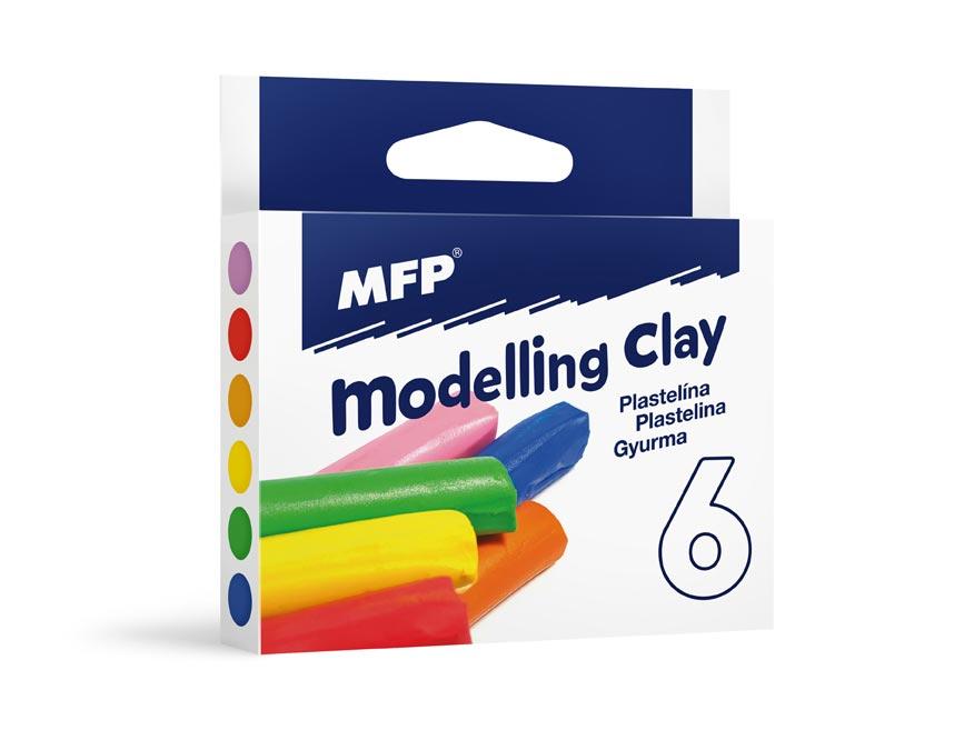 Modelovací hmota  6 barev 100g