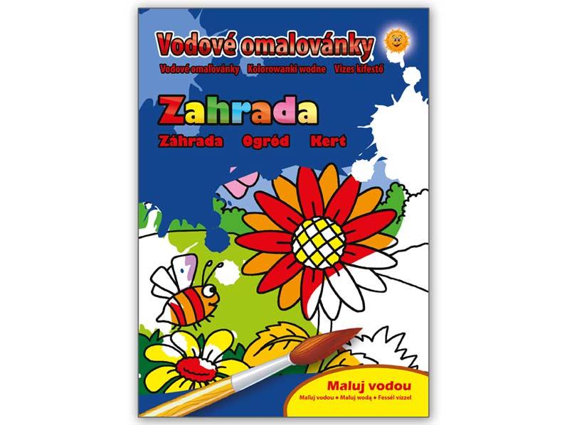 Image of Omalovánky vodové MFP Zahrada 205x290/16s