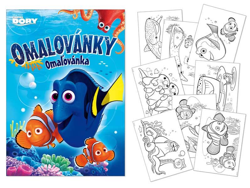 Image of Omalovánky MFP A4 Disney (Hledá se Dory)