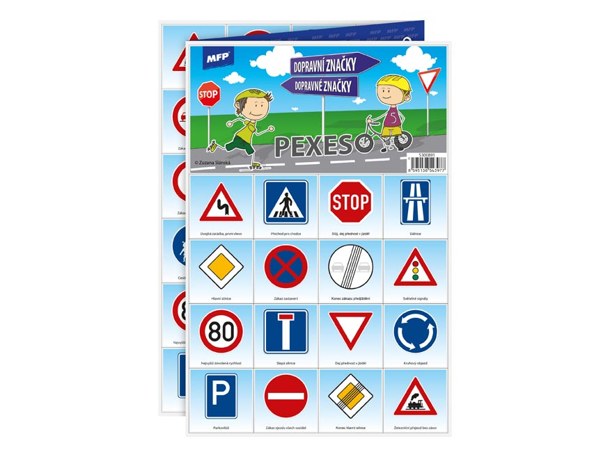 MFP pexeso 3xA4 Dopravní značky