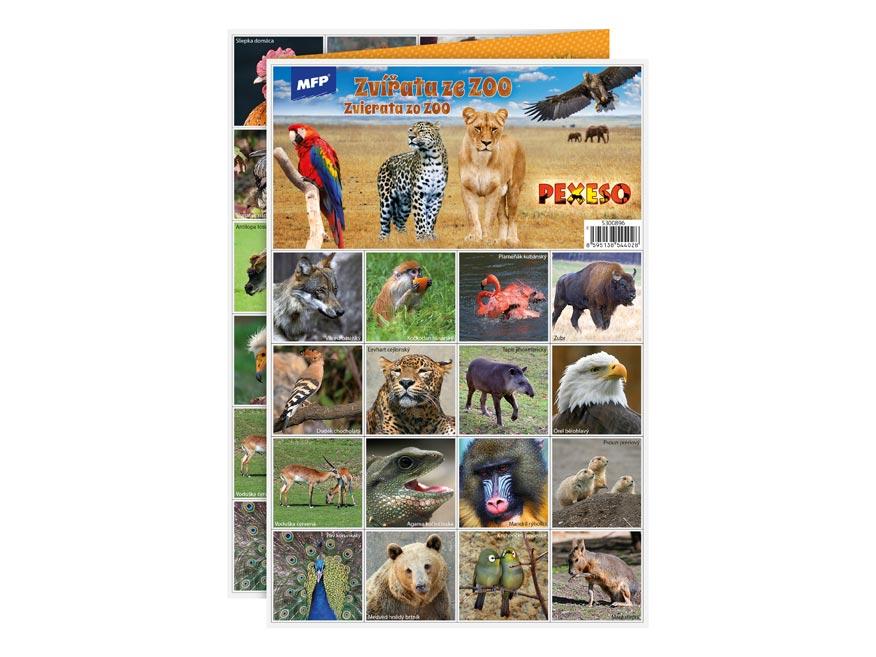 MFP pexeso 3xA4 Zvířata ze ZOO