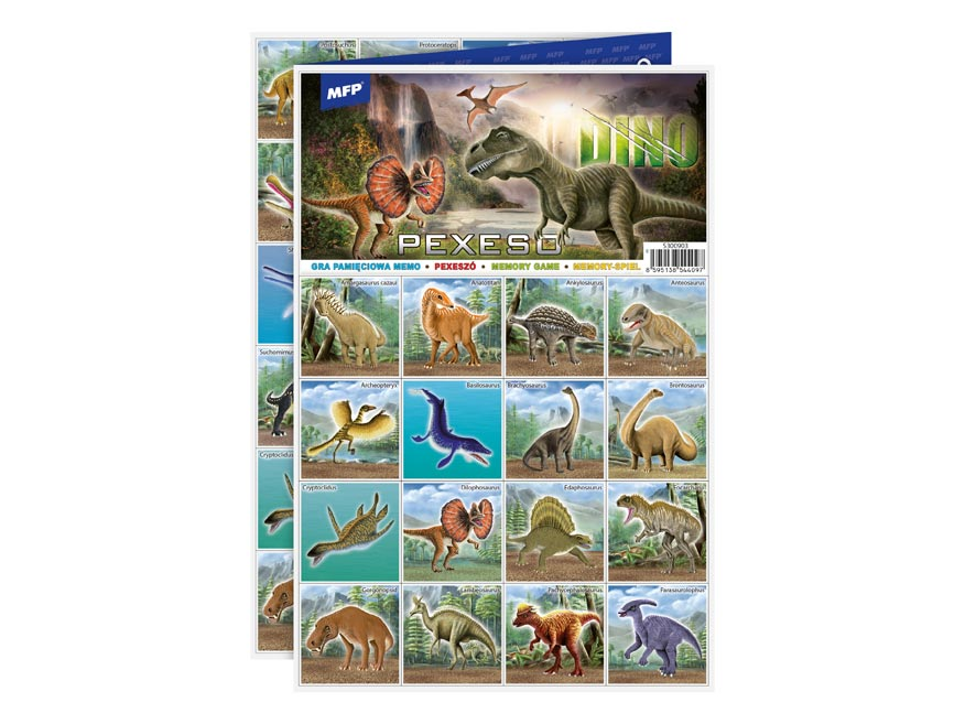 Pexeso MFP 3xA4 Dino