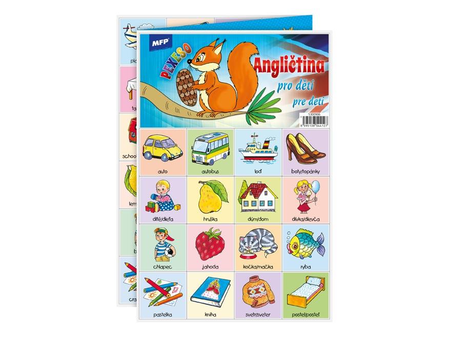 Pexeso MFP 3xA4 Angličtina pro děti