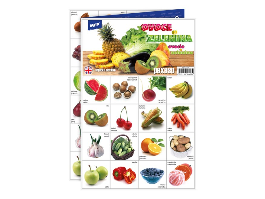 MFP pexeso 3xA4 Ovoce a zelenina