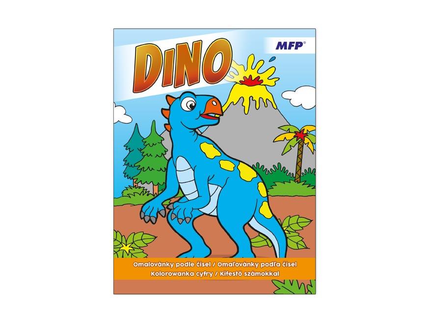 Omalovánky podle čísel Dino 210x290/32s