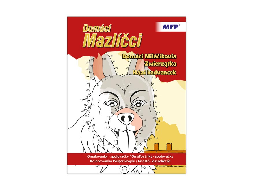 Omalovánky - spojovačky Domácí Mazlíčci 210x275/32s
