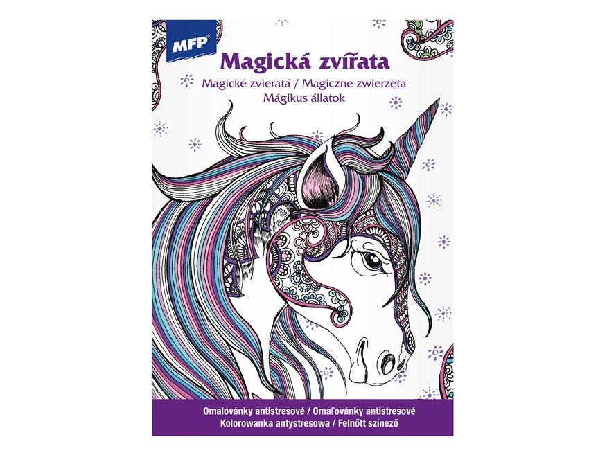 Omalovánky antistresové Magická zvířata 210x290/32s