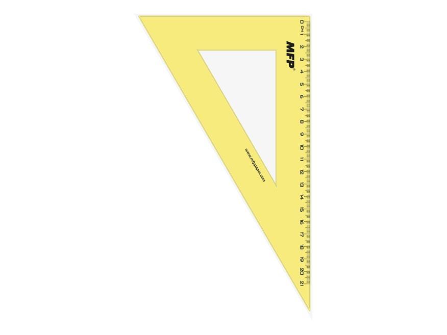 Pravítko trojúhelník 30-60 zelené bez závěsu