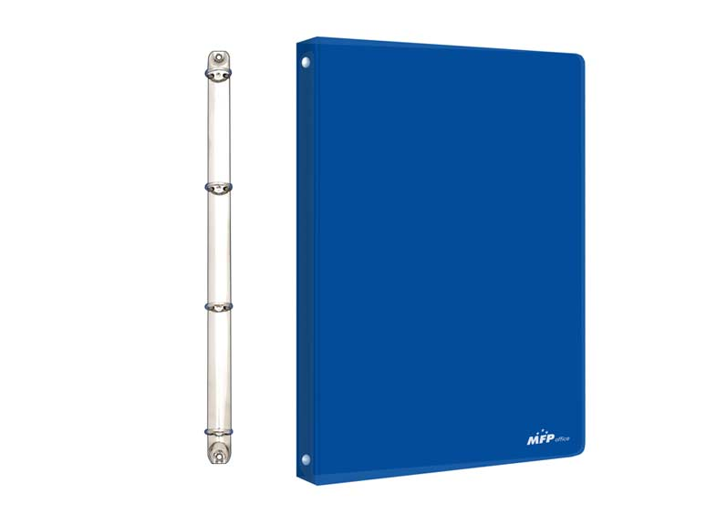 Pořadač M 4-kroužek modrý PP A4