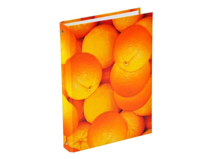 Pořadač A5 4kr. lamino pomeranče