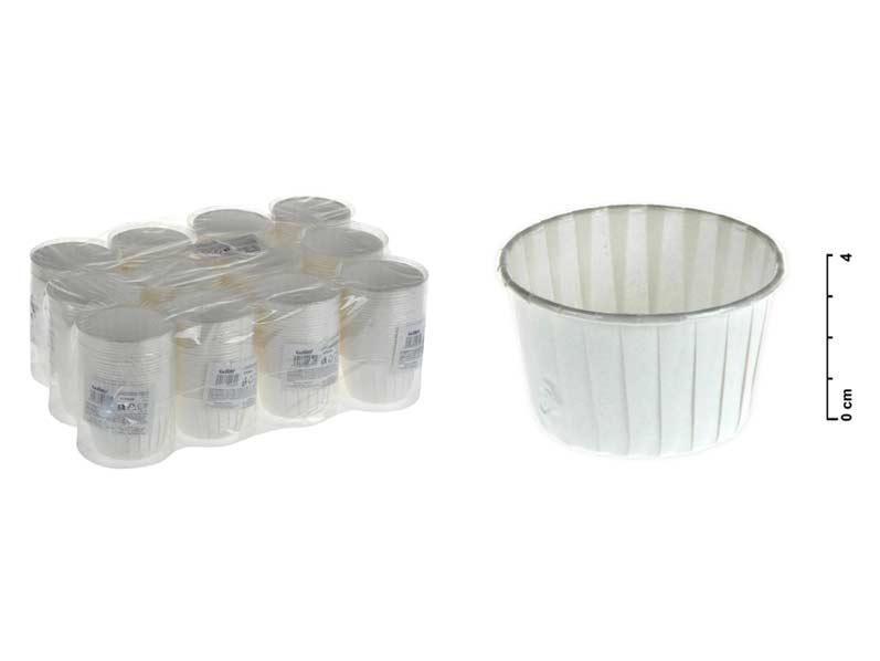 Košíček cukrářský 870904 5x4cm 25ks bílý tuba