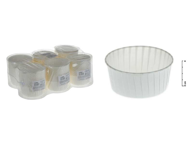 Košíček cukrářský 870905 7,5x4cm 25ks bílý tuba