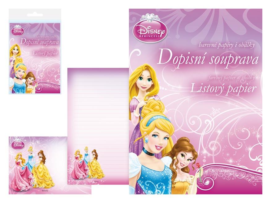 MFP dopisní papír barevný LUX 5+10 Disney (Princess)
