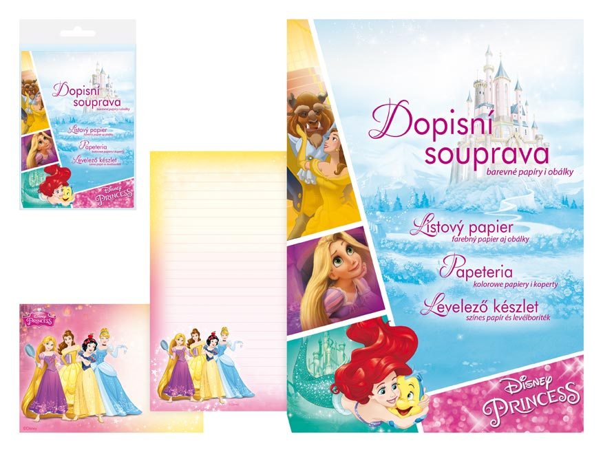 Dopisní papír barevný LUX 5+10 Disney (Princess 2)