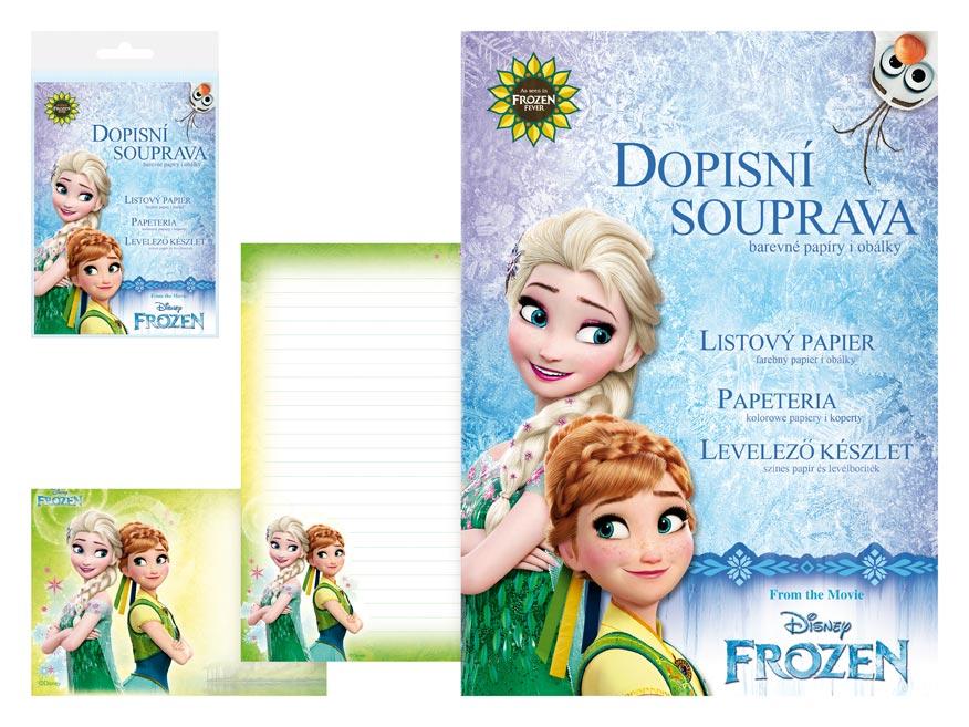 Dopisní papír barevný LUX 5+10 Disney (Frozen 2)