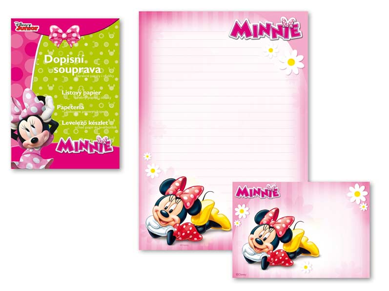 MFP dopisní papír barevný LUX 5+10 Disney (Minnie)