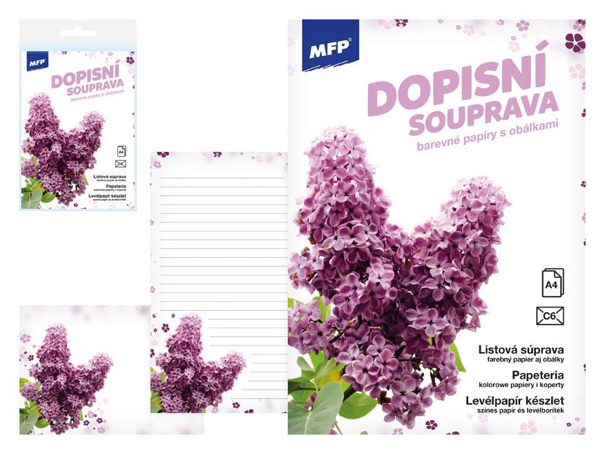 MFP 5550297 Dopisní papír barevný LUX 5+10 (Květy)