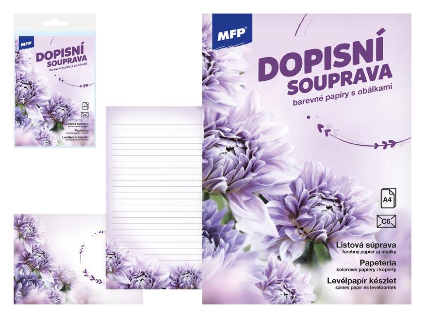 MFP 5550299 Dopisní papír barevný LUX 5+10 (Květy)