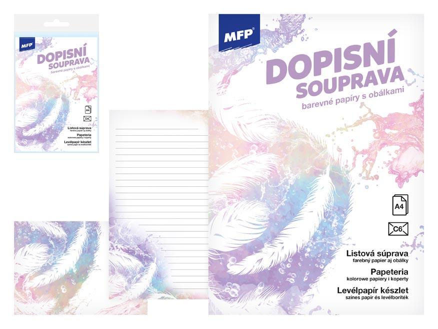 MFP 5550300 Dopisní papír barevný LUX 5+10 (Pírka)