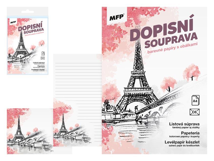 MFP 5550302 Dopisní papír barevný LUX 5+10 (Paříž)