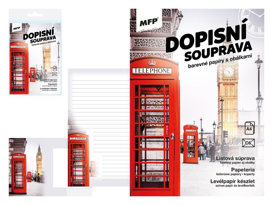 MFP 5550303 Dopisní papír barevný LUX 5+10 (Londýn)