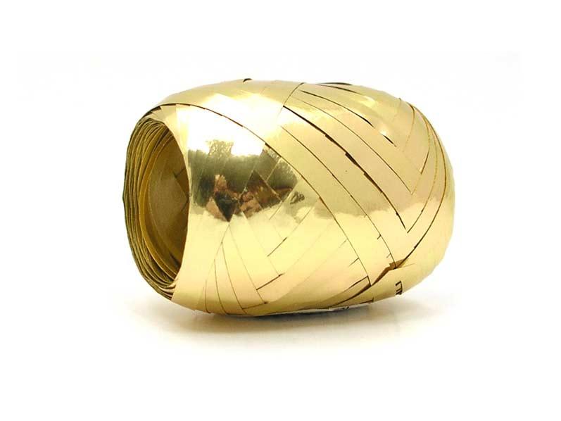 Stuha vázací 20m metal zlatá 9312
