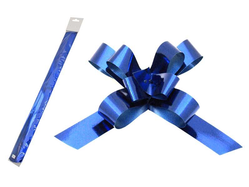 Stahovací stuha modrá metal 2/50