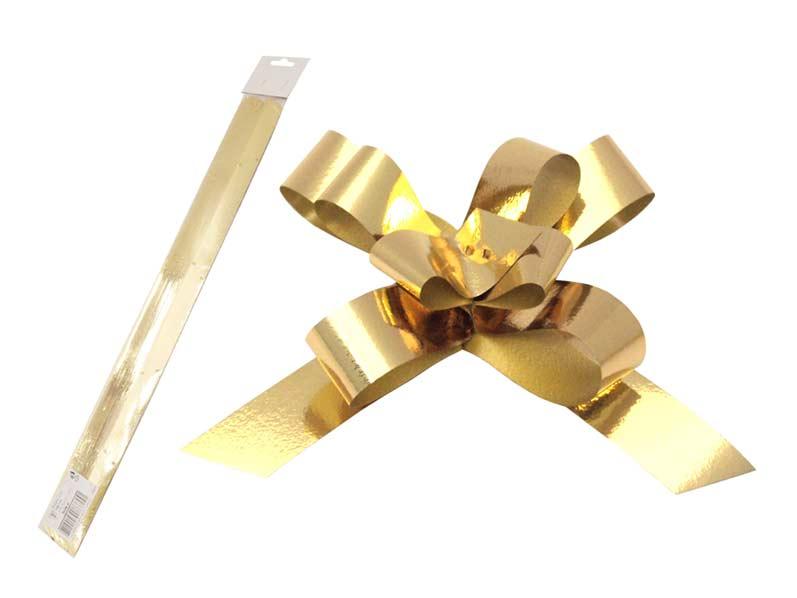 Stahovací stuha zlatá metal 2/50