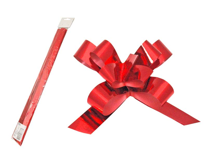 Stahovací stuha červená metal 2/50
