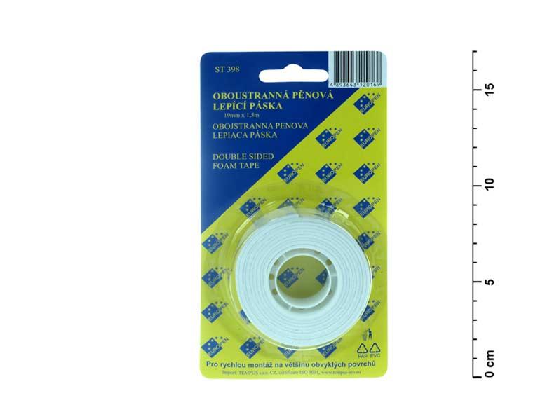 Lepící páska oboustranná pěnová 1,5mx19mm