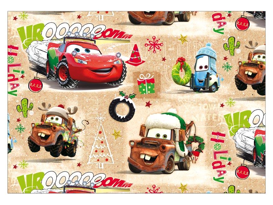 Balící papír vánoční LUX YV017 Disney (Cars)
