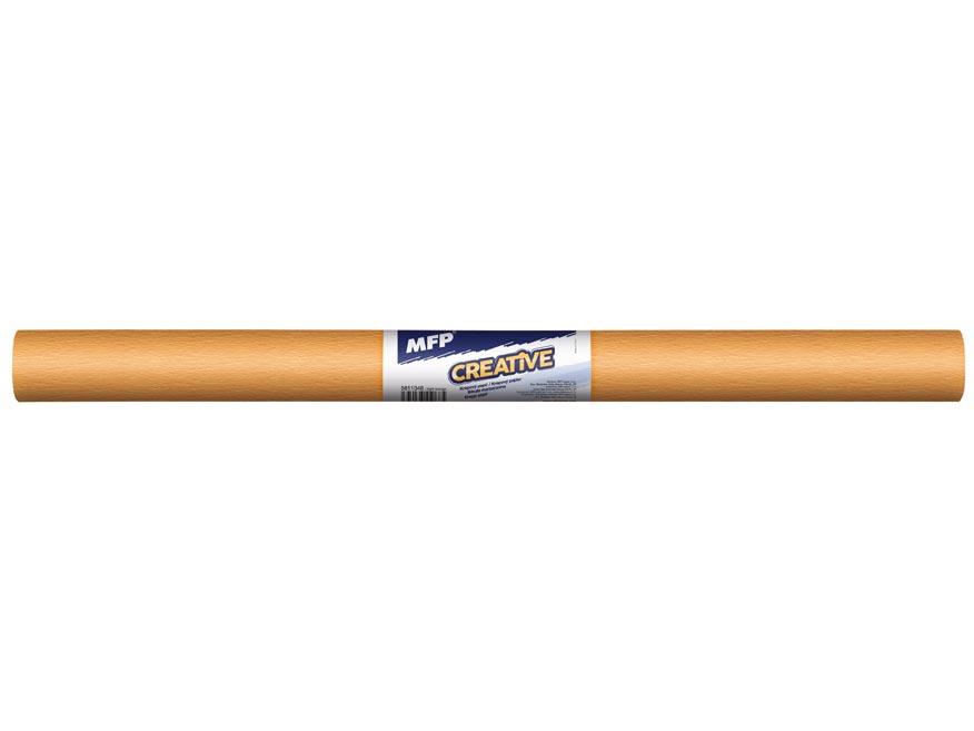 Krepový papír role 50x200cm oranžový světlý