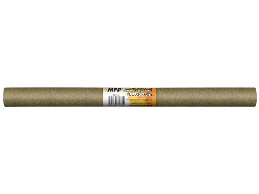 Krepový papír role 50x200cm hnědý světlý