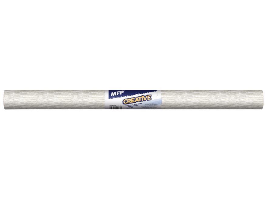 Krepový papír role 50x200cm perleťový bílý