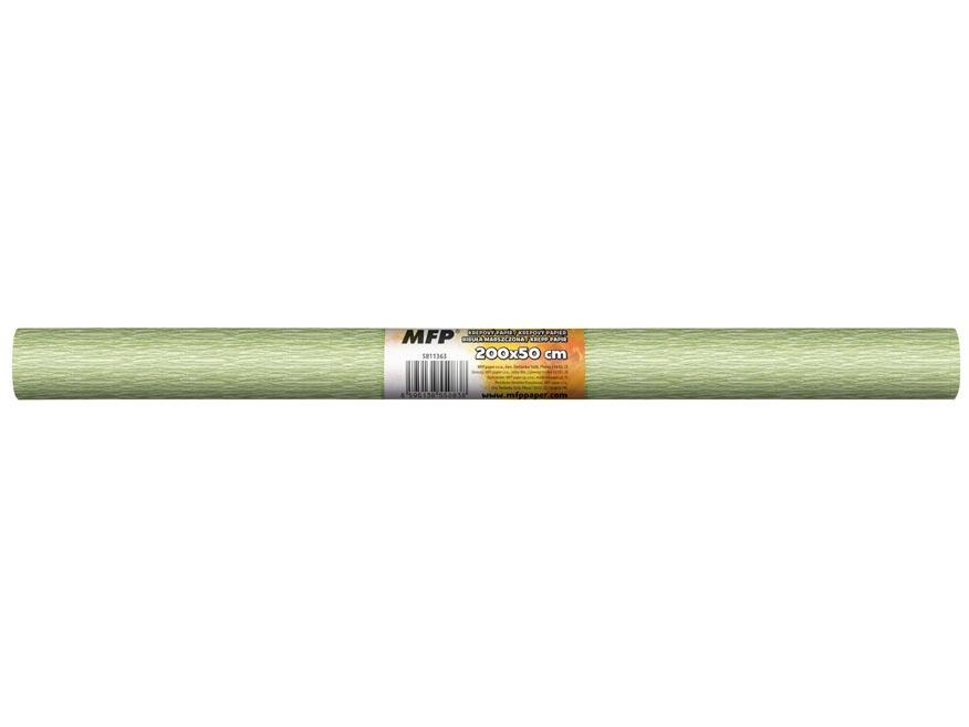 Krepový papír role 50x200cm perleťový zelený