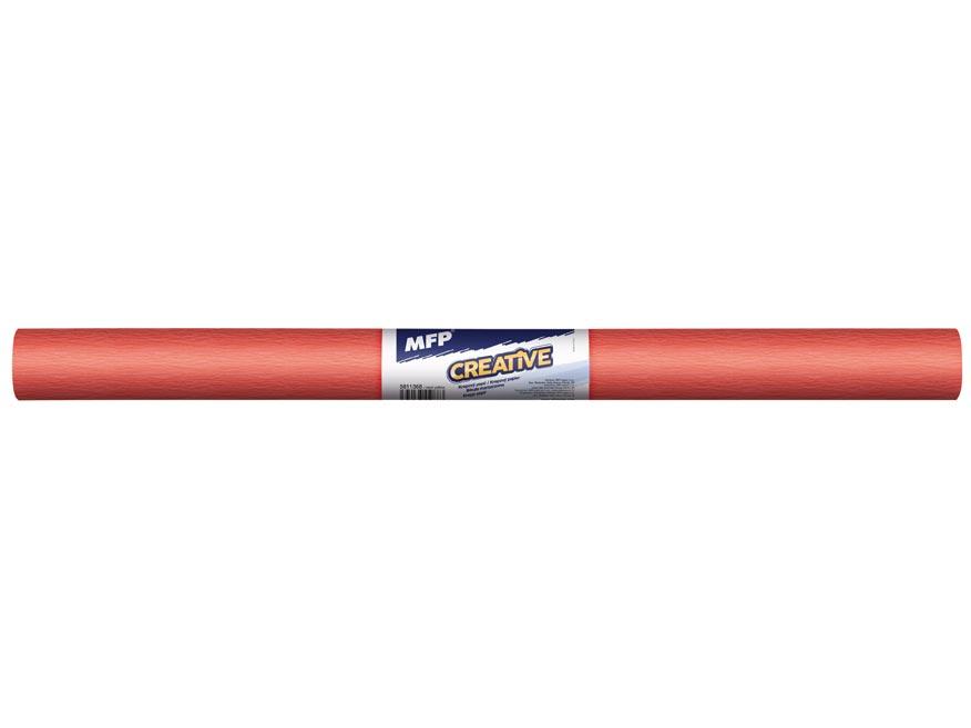 Krepový papír role 50x200cm neon oranžový