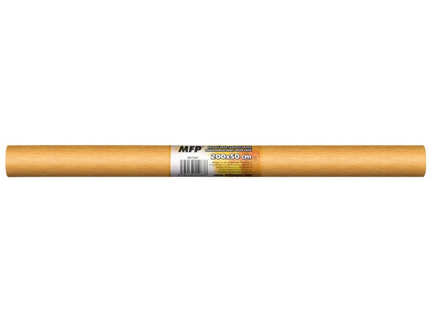 Krepový papír role 50x200cm neon oranžový světlý