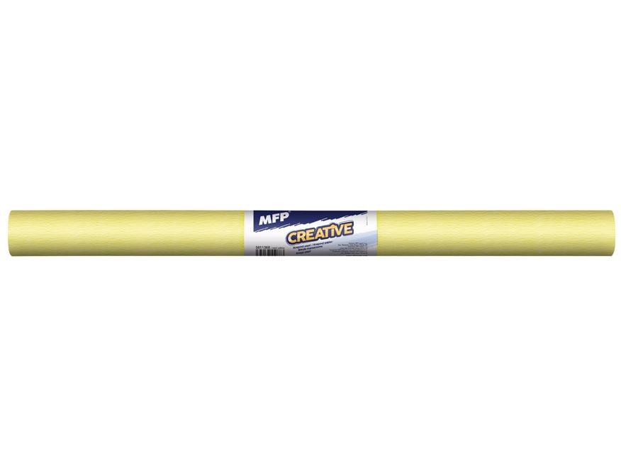 Krepový papír role 50x200cm neon žlutý