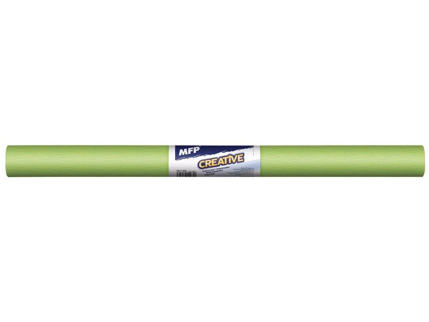 Krepový papír role 50x200cm neon zelený