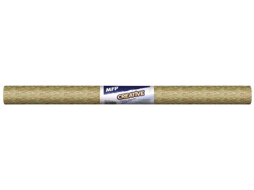 Krepový papír role 50x200cm zlatý