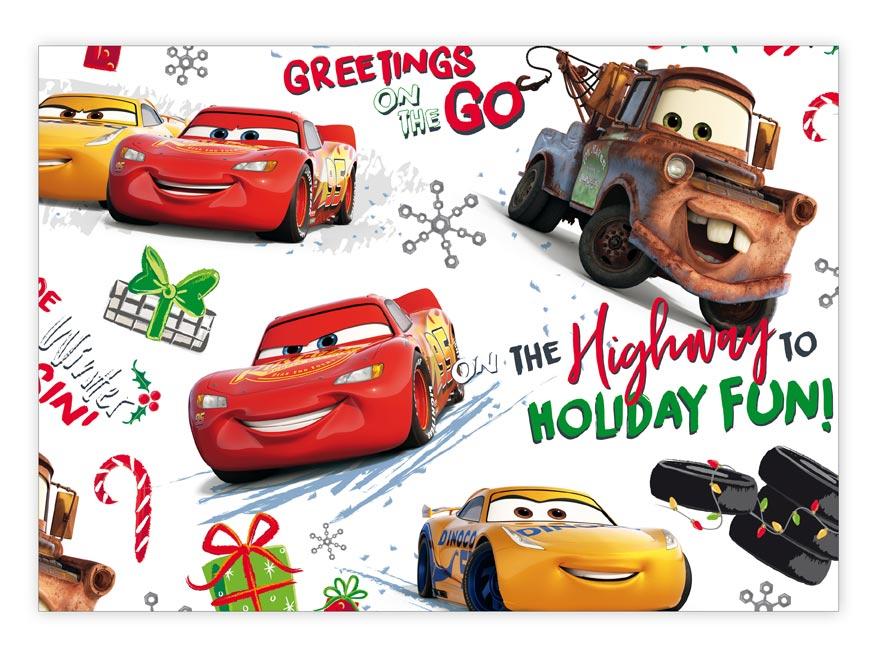 Balící papír vánoční LUX YV021 Disney (Cars)