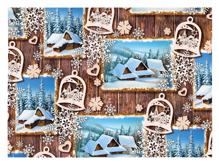 Balící papír vánoční klasik V206 100x70