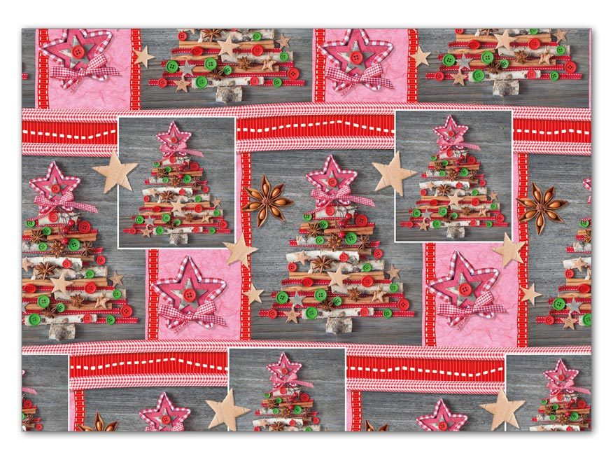 Balící papír vánoční LUX V210 100x70