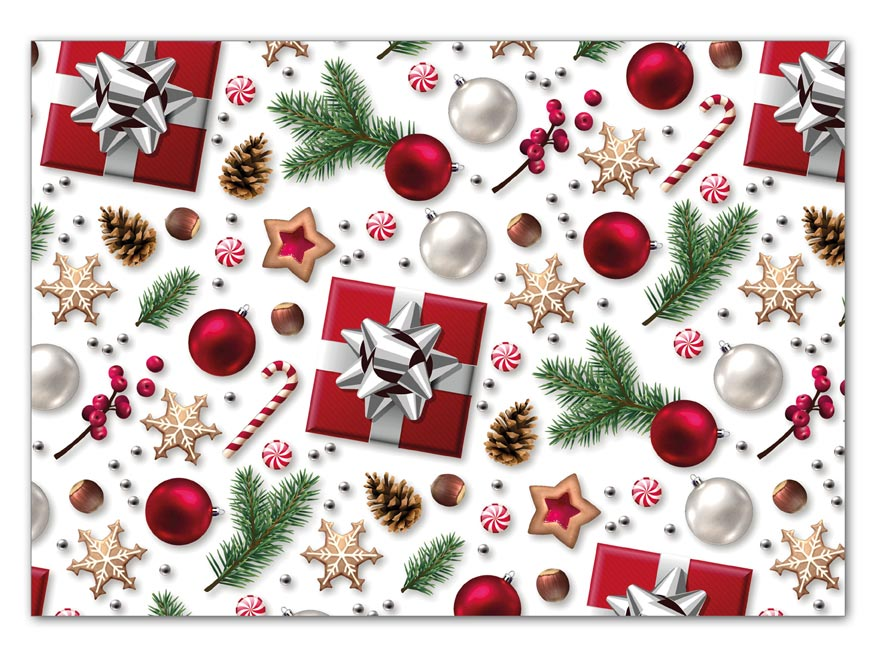Balící papír vánoční LUX V212 100x70