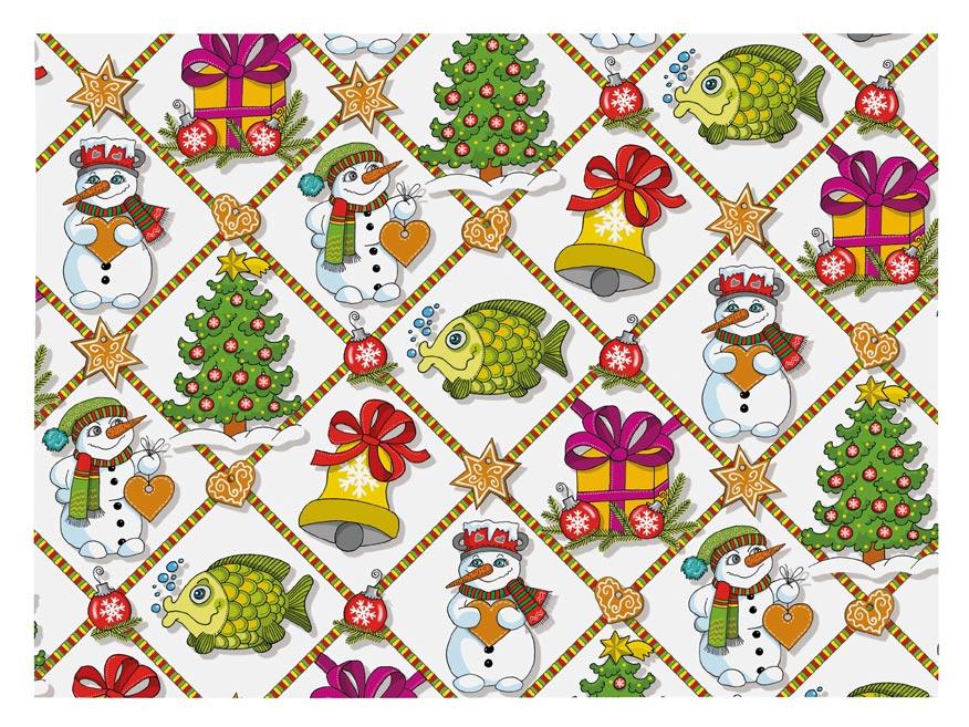 Balící papír vánoční LUX V213 100x70