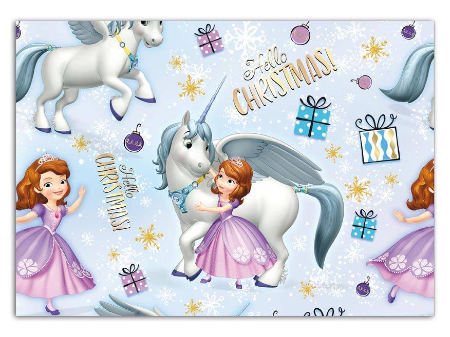 Balící papír vánoční LUX YV028 Disney (Sofia the First)
