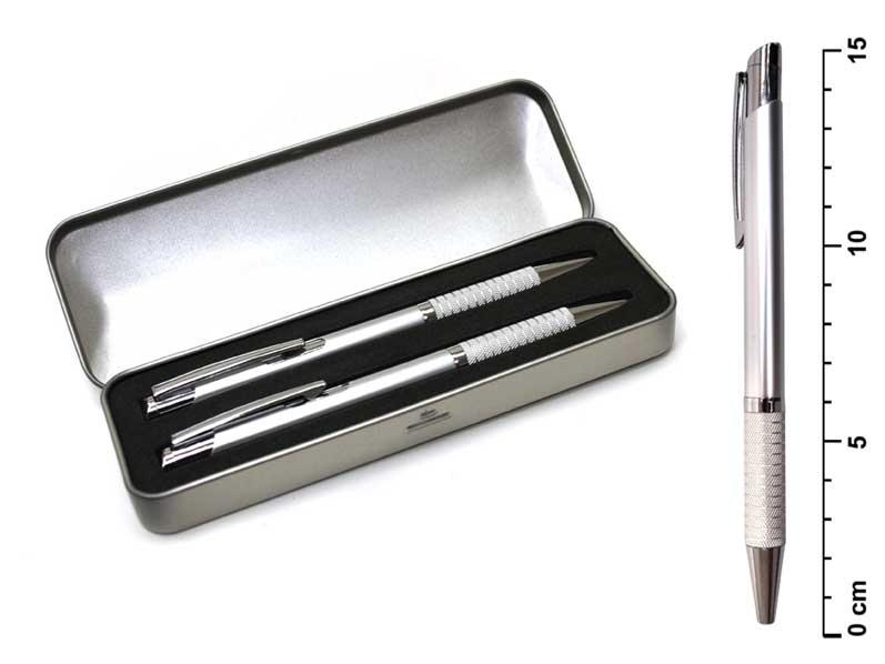 Souprava propiska + mikrotužka A10.2893.70 stříbrná