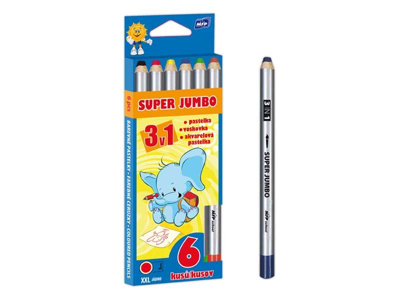 Pastelky MFP  6 Super Jumbo 3v1