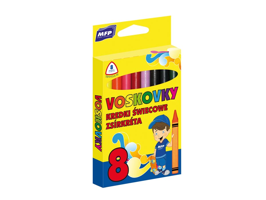 Voskovky MFP  8 barev - trojhranné